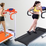 Searchbuystore 500W Folding Electric Treadmill Portable Motorized Running Machine