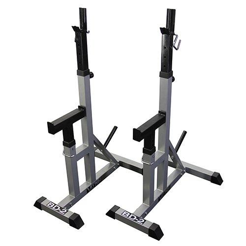 Valor Fitness BD-2 Independent Bench Press Stands, Pewter