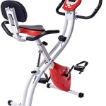 Merax Folding Adjustable Magnetic Upright Exercise Bike Fitness Machine