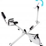 Merax Folding Magnetic Upright Exercise Bike with Pad Bracket