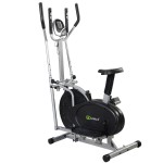 Goplus 2 in 1 Elliptical Bike Dual Cross Trainer Machine Exercise Upgraded Model