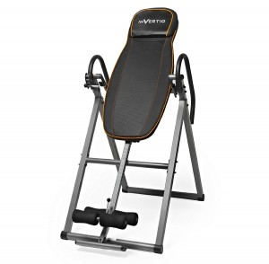 Invertio Adjustable Folding Inversion Table with Padded Backrest for Back Fitness Therapy Relief