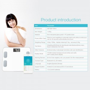 A8POWER wireless bluetooth body weight digital & electronic scale info