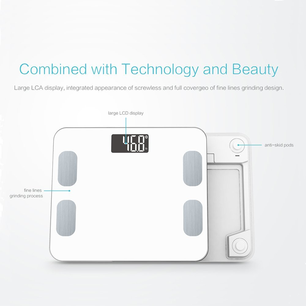 A8POWER wireless bluetooth body weight digital and electronic scale