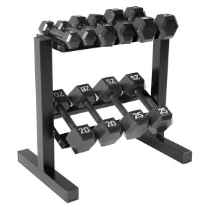 CAP Barbell Hex Dumbbell Set with Rack SDB2S-150R