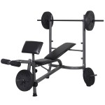 Goplus Weight Lifting Bench Fitness Body Workout Home Exercise Barbell+Weights
