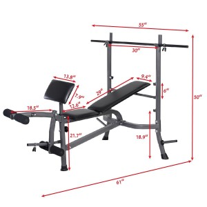 Goplus Weight Lifting Bench Fitness Body Workout Home Exercise Barbell and weights