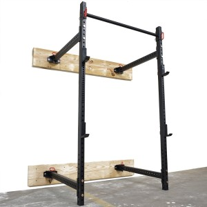 Titan Fitness Fold Back Power Rack 41 Deep Wall Mounted Laser Cut Weight RML-3W