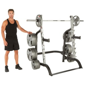 IRONMAN 6875 Triathlon X-Class 1500 lb High Capacity Light Commercial Squat Rack