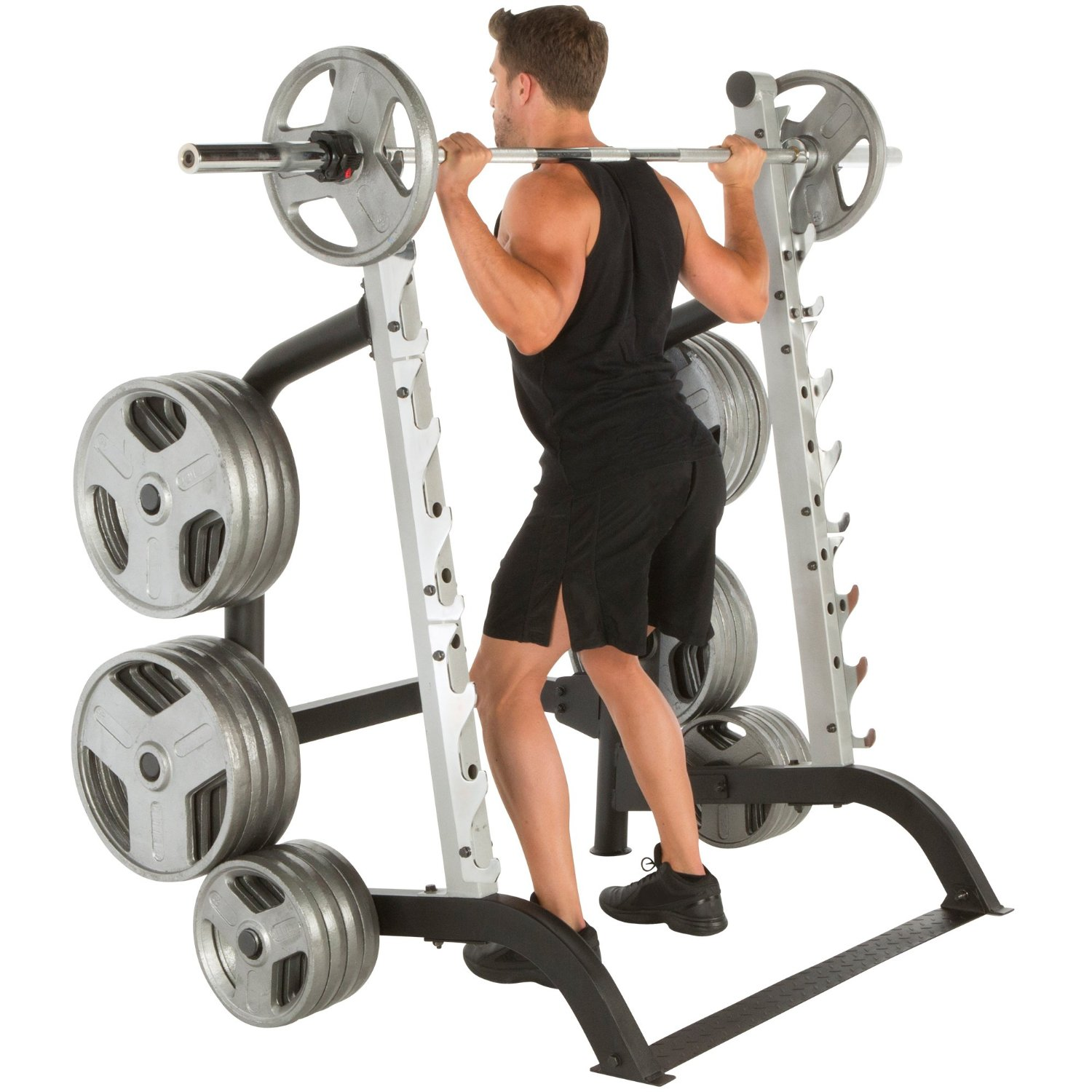 IRONMAN Triathlon X-Class 1500 lb High Capacity Light Commercial Squat Rack