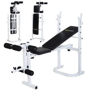 Goplus Olympic Folding Weight Bench Incline Lift Workout Press Home