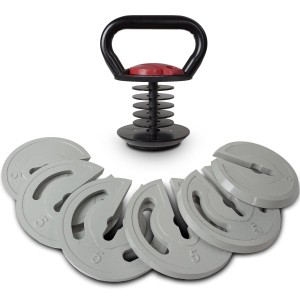 Titan Fitness 5 lb. - 35 lb Adjustable Kettlebell Set