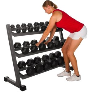 XMark XM-4439 4 ft. Three Tier Dumbbell Rack