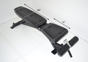 Dlx HD Flat Incline Decline FID Bench 17 inch High 900 lb Cap
