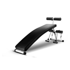 Fabfit Curved Extra Long Adjustable Sit up Bench