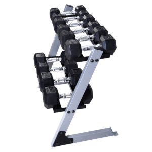 Giantex Dumbbell Weight Storage Rack with weights