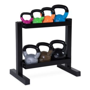 CAP Barbell Kettlebell Set with Rack, 140 lb