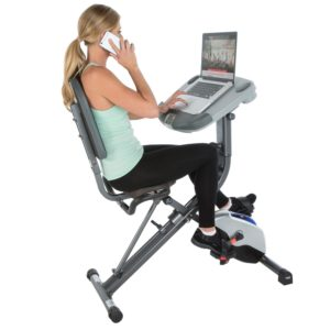 Exerpeutic WorkFit 1000 Desk Station Folding Exercise Bike 7150