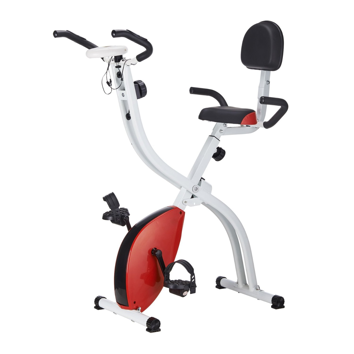 Pinty Folding Adjustable Upright Magnetic Exercise Bike