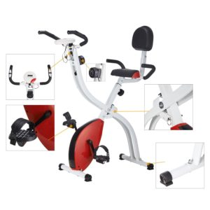 Pinty Folding Adjustable Upright Magnetic Fitness Bike