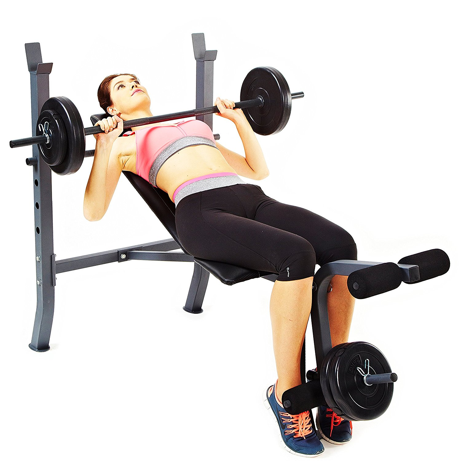 sunny-health-and-fitness-sf-bh6510-100lb-weight-and-bench-set