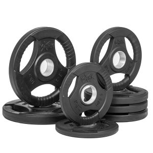 XMark Rubber Coated Tri-grip Olympic Plate XM-3377-BAL-45