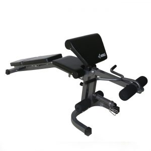 Akonza FID Weight Bench with Leg Extension n Preacher Curl