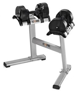 Core Fitness Adjustable Dumbbells and Stand