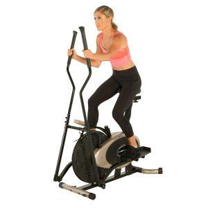 Exerpeutic Gold XL9 Aero Elliptical Exercise Bike Dual Trainer