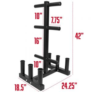 Olympic 2-inch Plate Tree with 6 Bar Holders by Crown Sporting Goods