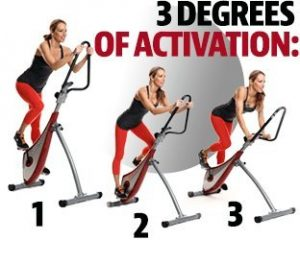 Vertical Spin Trainer Bike 3 degrees of activation