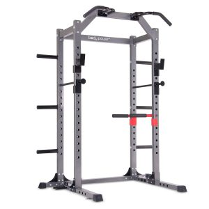 Body Power Deluxe Rack Cage System with Upgrades:Full-length Safety Bars
