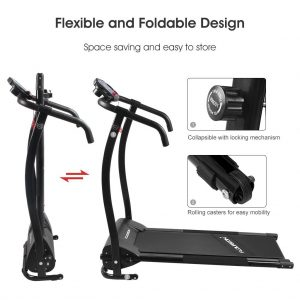 Floureon Folding Electric Treadmill