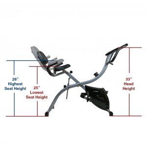 Xspec Dual Recumbent Upright Bike