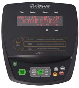 Octane Fitness xR4x Elliptical Trainer display panel