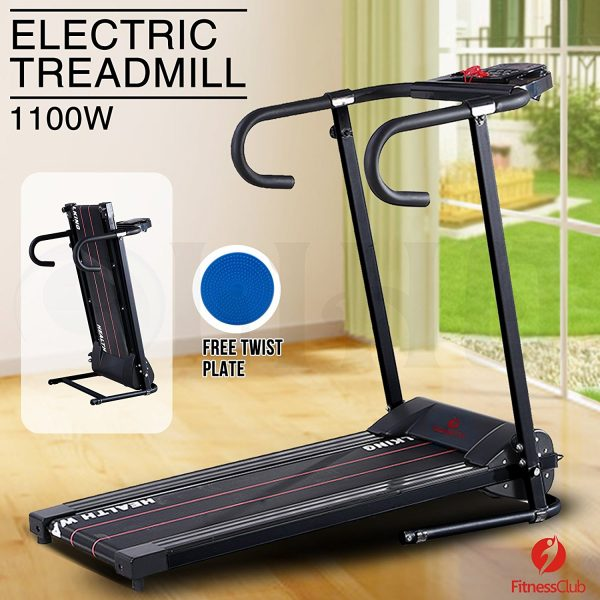 Fitness Club Reinforced Folding Electric Treadmill 1100W
