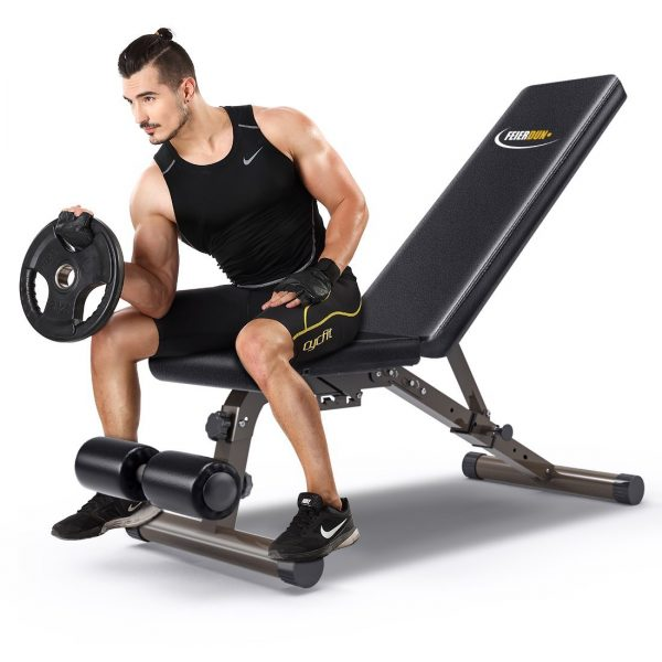 Heavy Workout Utility Weight Bench - 882 lbs Capacity, FEIERDUN