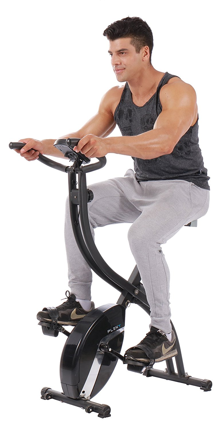 pleny foldable magnetic exercise bike
