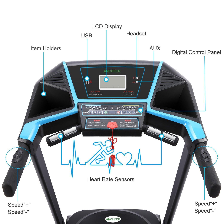 Ancheer Treadmill S5400 LCD Display