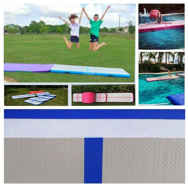 EZ GLAM Inflatable Gymnastic Air floor Mat