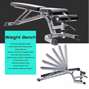merax deluxe foldable weight bench