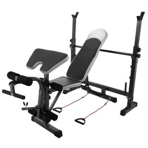 BestEquip Multi-station Adjustable Workout Bench with Leg Extension