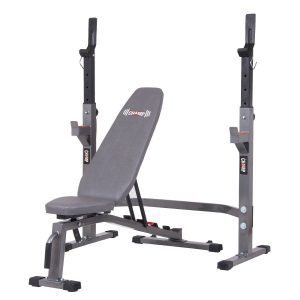 Body Champ BCB3835 Olympic Weight Bench and Squat Rack Two-Piece Set