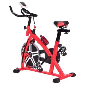 Goplus Adjustable Exercise Bike 18 lb Flywheel Cycle