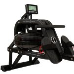 Sunny Health & Fitness Water Rowing Machine Rower LCD Monitor - Obsidian SF-RW5713