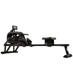 Sunny Health & Fitness Water Rowing Machine Rower Obsidian