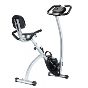 Feierdun Adjustable Folding Upright Magnetic Stationary Exercise Bike