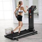 Goplus 1.5HP Electric Folding Treadmill LED Touch Screen