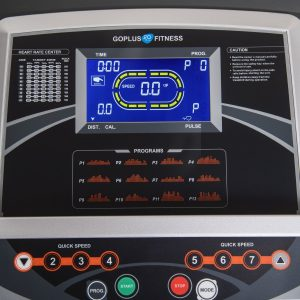 Goplus 2.25HP Folding Electric Treadmill LCD Display