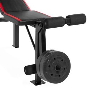 CAP Barbell Weight Bench FMS-CS100 and 100-Pound Weight Set